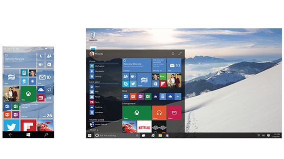 Eine Version von Windows 10
