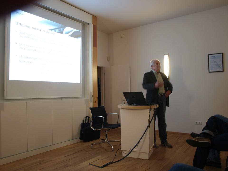 Manfred Rudorf von blue:solution stellt TopKontor Handwerk vor