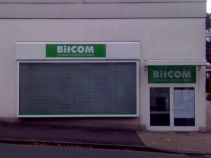 Die alte BitCOM Filiale in Werther