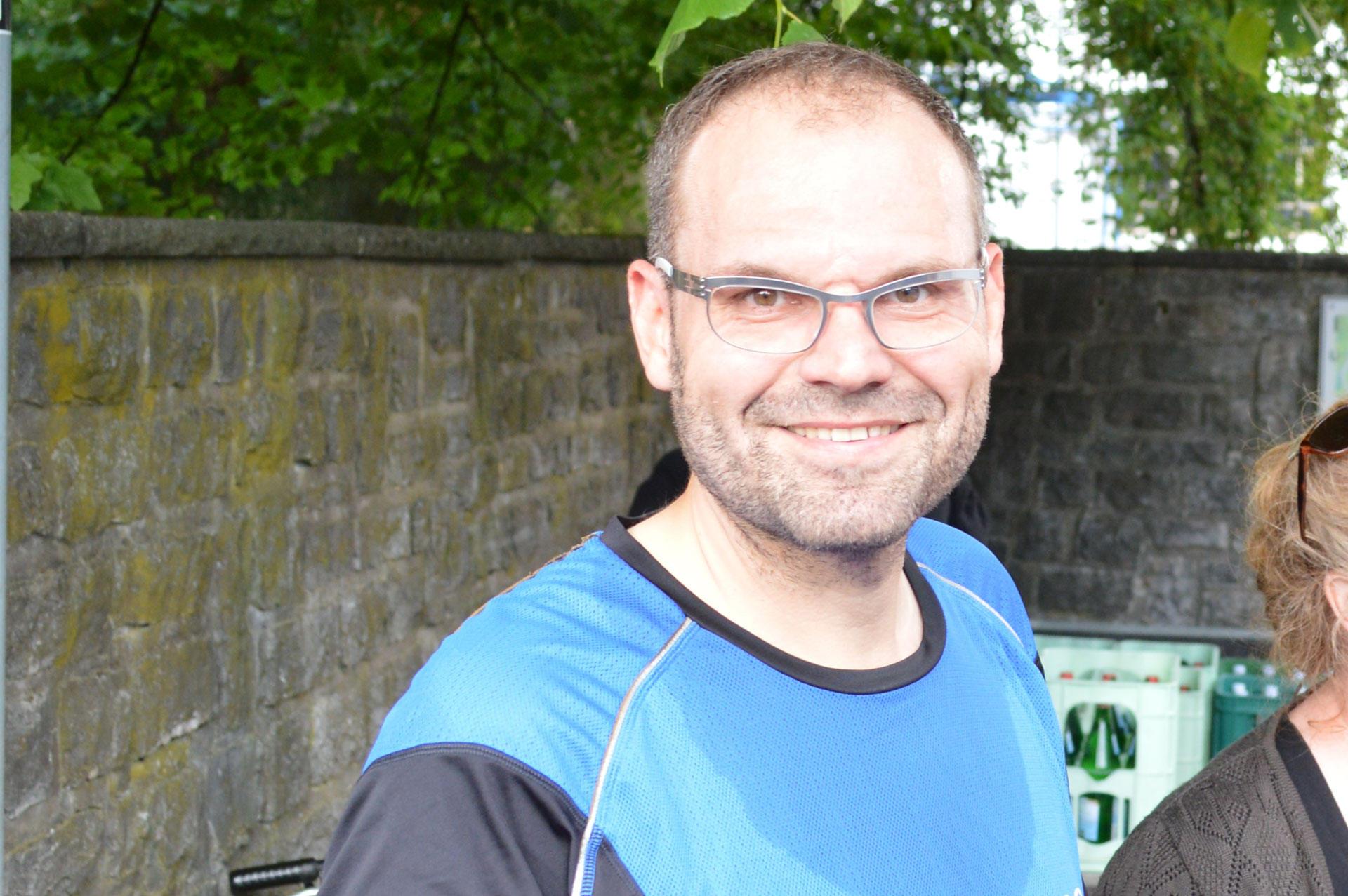 Hermann Oberschelp nach dem Firmenlauf der 39. Nacht von Borgholzhausen 2014