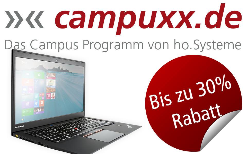 campuxx.de - mit bis zu 30% Rabatt für Studenten und Schüler