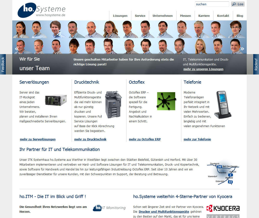 Neue Homepage von ho.Systeme