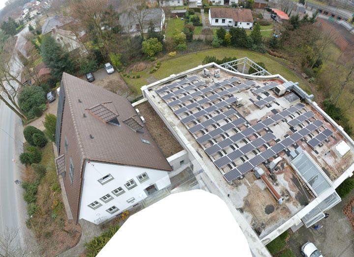 Unser neues Gebäude aus der Luft