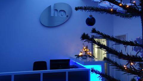 Weihnachtliche Deko im Eingangsbereich