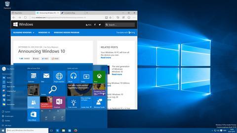 Windows 10 Screenshot mit Startmenü