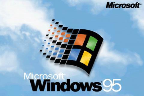Windows 95 Startbildschirm